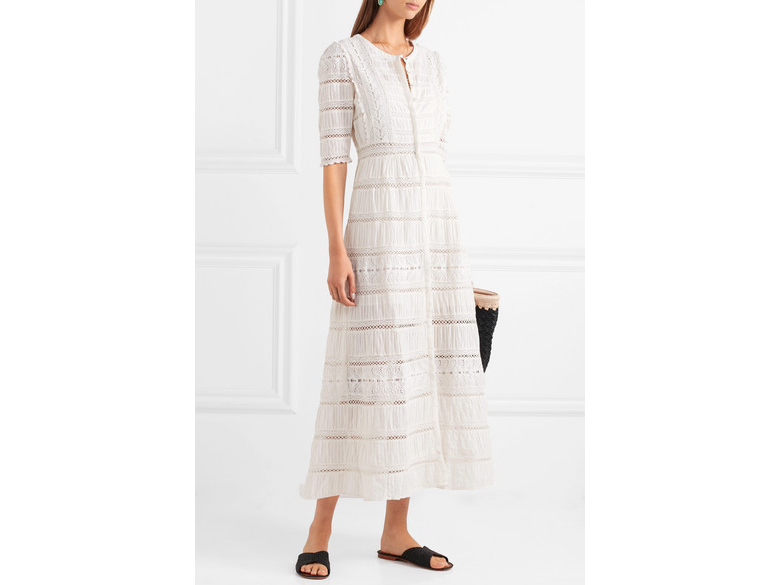 LOVESHACKFANCY Flora broderie anglaise cotton maxi dress