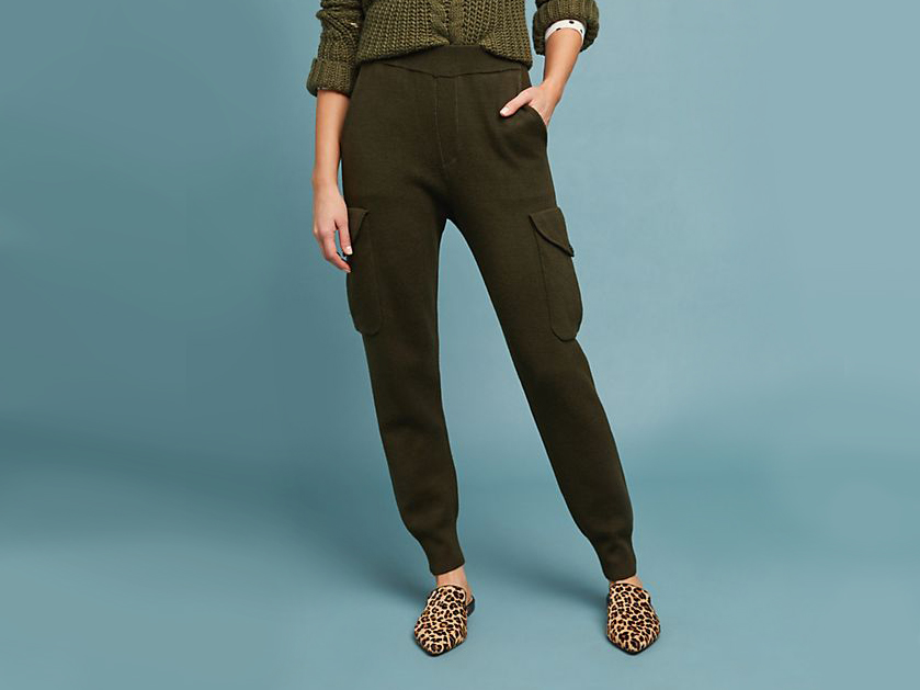 anthropologie Carmela Utility Sweater Pants