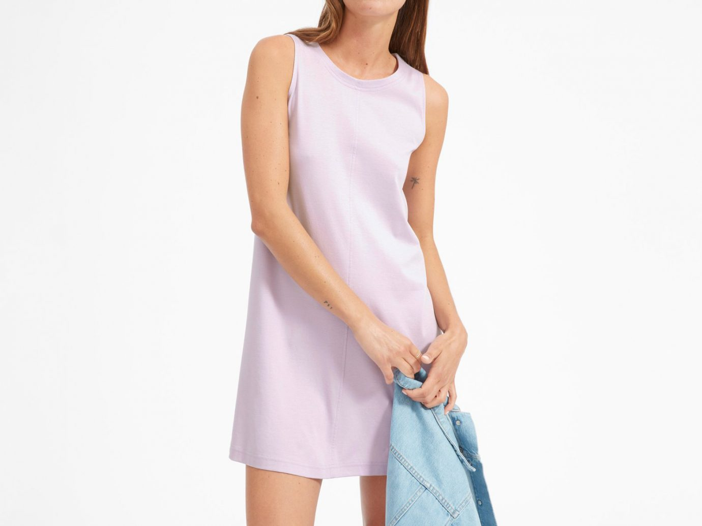 everlane The Luxe Cotton A-Line Tank Dress