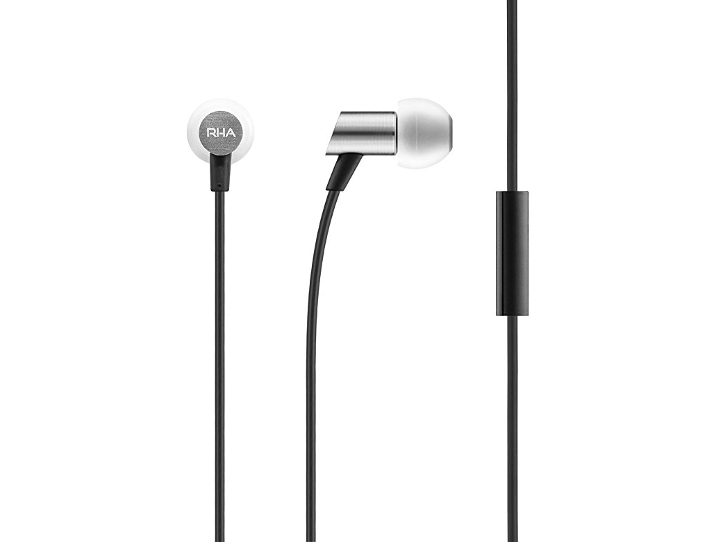 RHA S500 Universal Earphones: Compact Aluminium Noise Isolating In-Ear Headphones with Remote & Mic