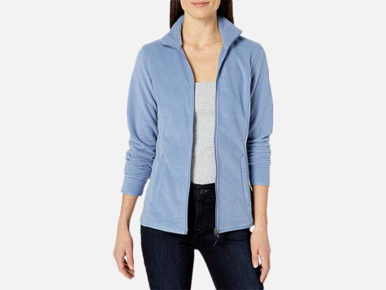 Amazon Essentials Women's Full-Zip Polar Fleece Jacket.