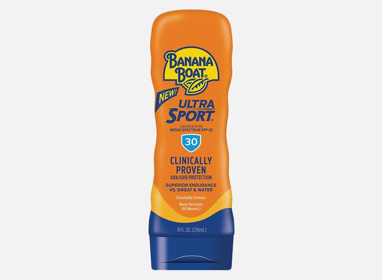 Banana Boat Ultra Sport Sunscreen Lotion.