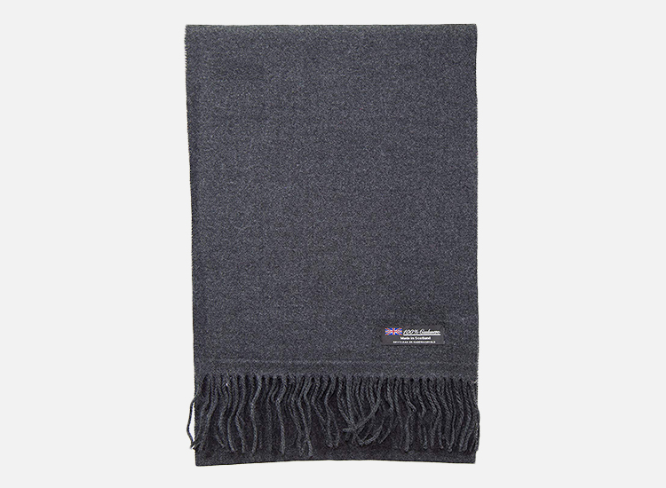 Cashmere Made in Scotland 2 PLY 100% Cashmere Scarf.