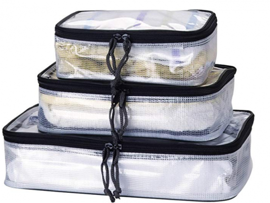 Packing Cubes: TRANVERS Reinforced PVC Packing Cubes Waterproof Travel Organizers Set of 3 Sizes