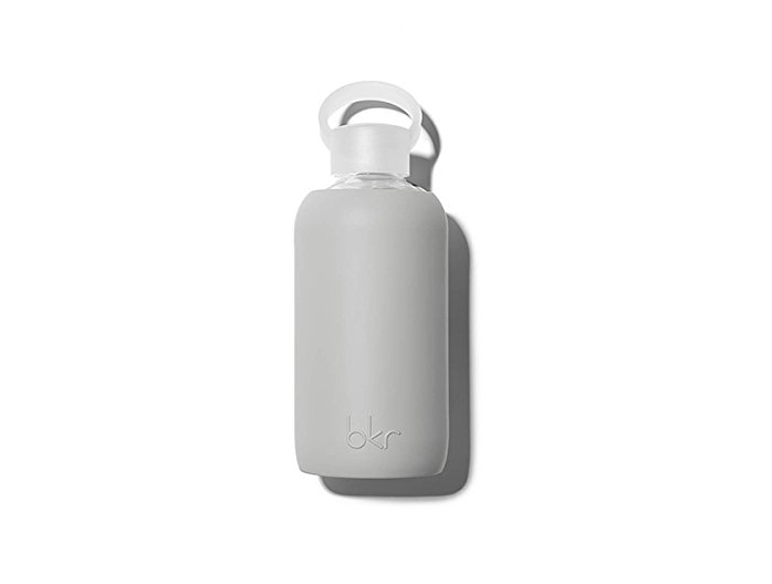Refillable glass water bottle from bkr