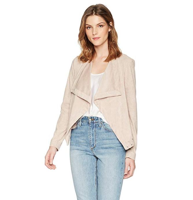 Sueded lightweight jacket