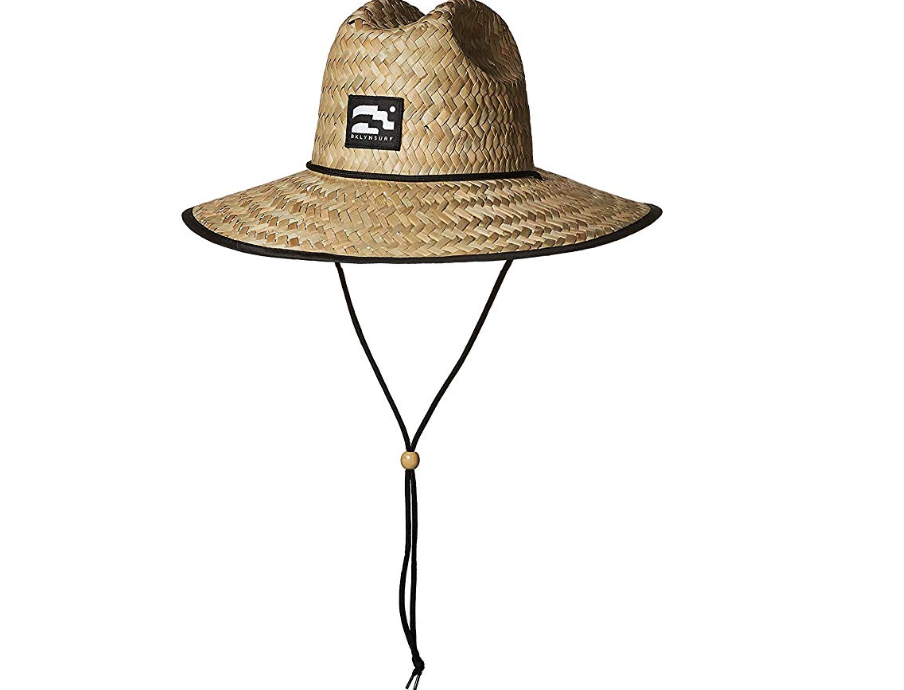 Wide brim hat to protect from the sun.
