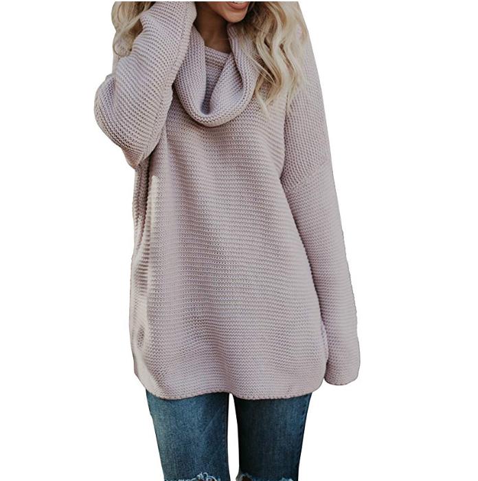 Warm turtleneck sweater by Pxmoda