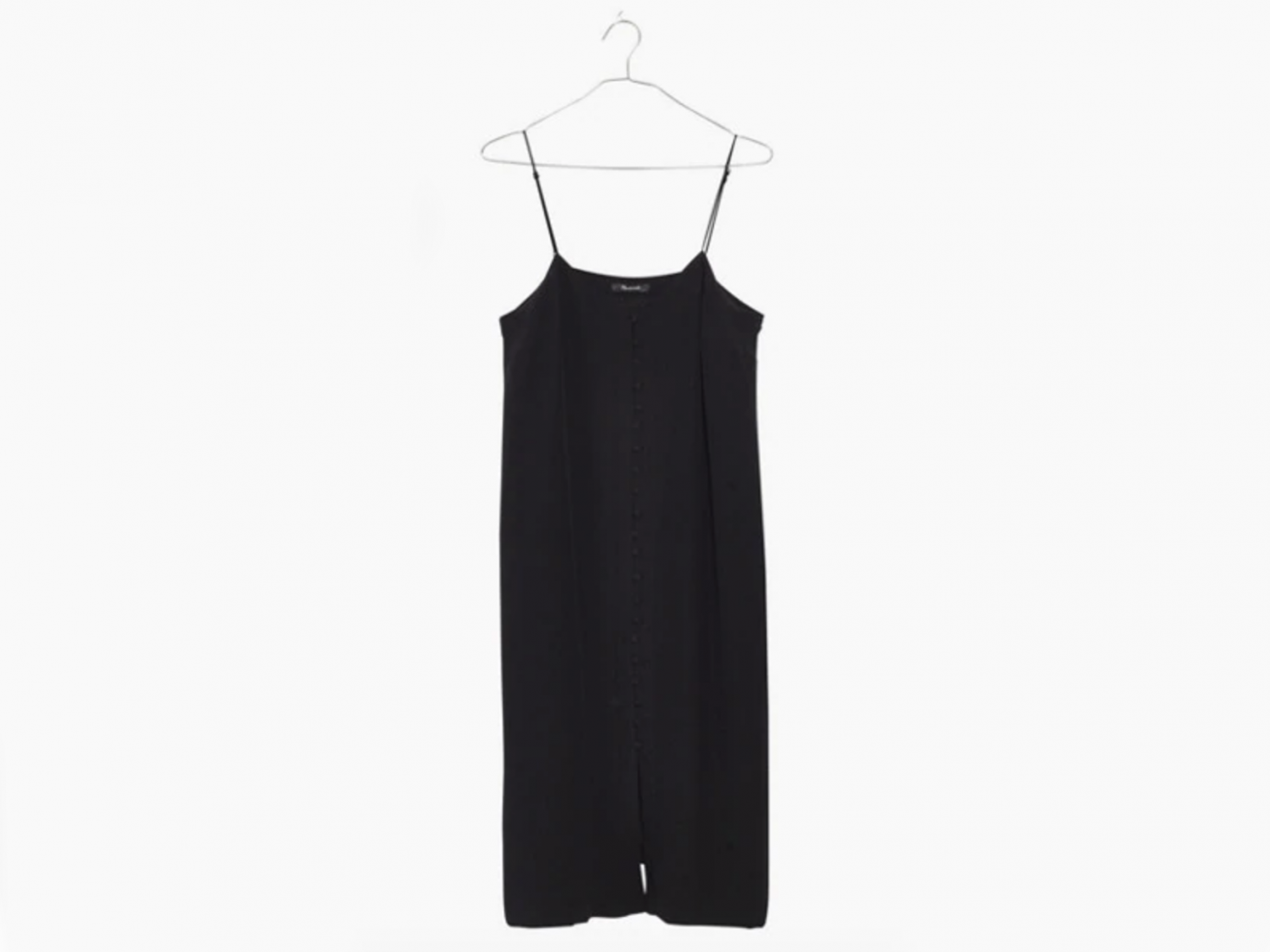 Silk Button-Front Slip Dress madewell