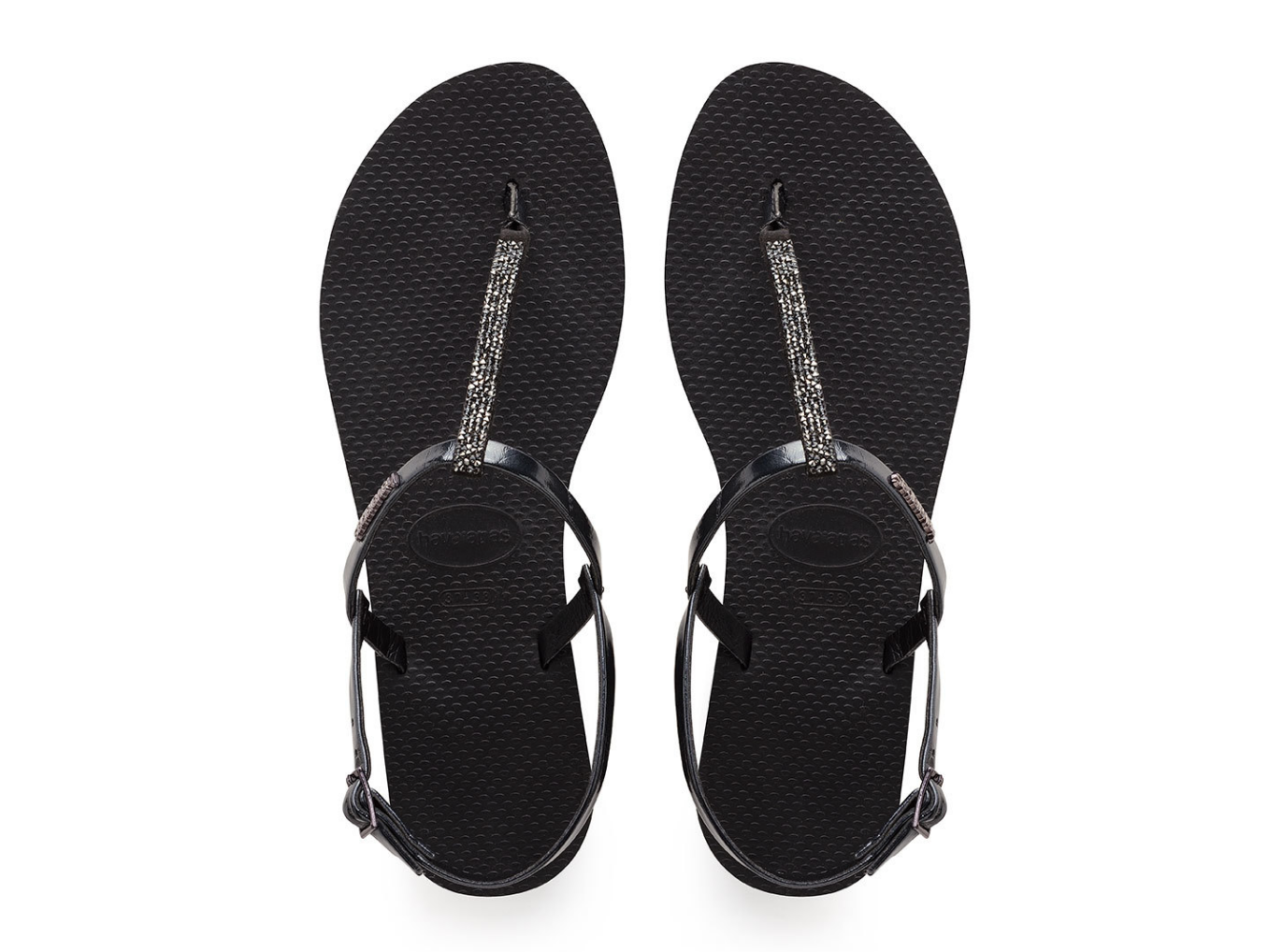 YOU RIVIERA SWAROVSKI CRYSTAL SANDAL BLACK