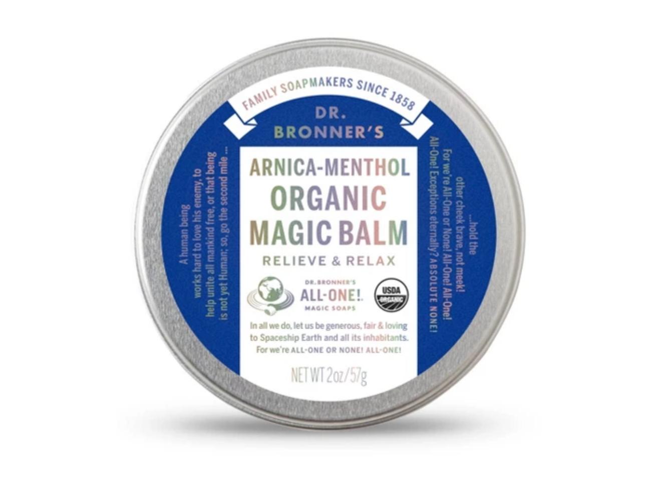 Dr. Bronner's Arnica Menthol Magic Balm - 2oz