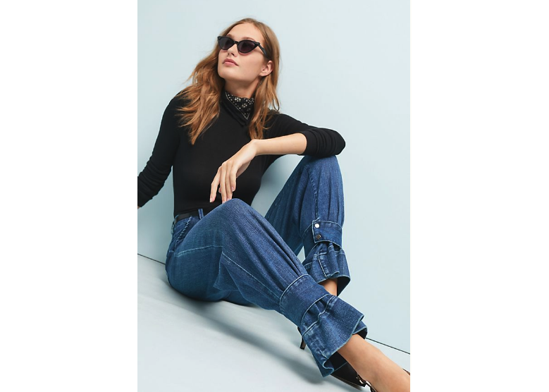 Vedua Ultra High-Rise Convertible Straight Jeans Habitual