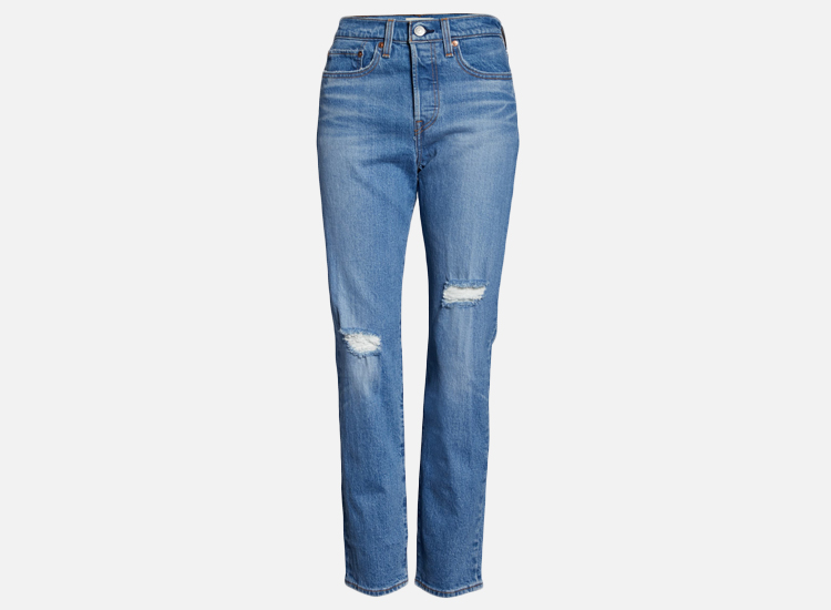 Wedgie Icon Fit Ripped Straight Leg Jeans LEVI'S®.