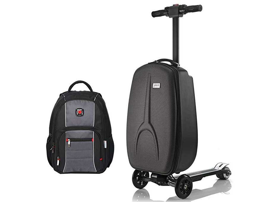 Iubest Smart Suitcase Foldable Electric Scooter Backpack 21 In Luggage Sets
