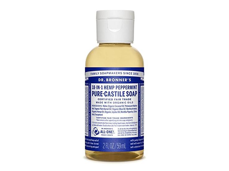 Dr. Bronner's Pure-Castile Liquid Soap - Peppermint, 2 Oz