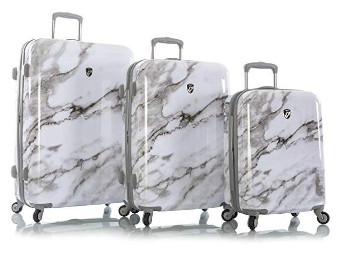 Heys Carrara White Marble Fashion Spinner 3pc. Set