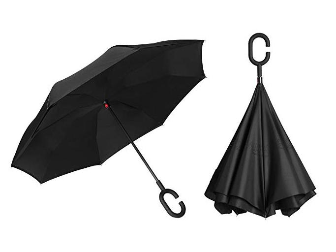 BAGAIL Double Layer Inverted Umbrellas Reverse Folding Umbrella