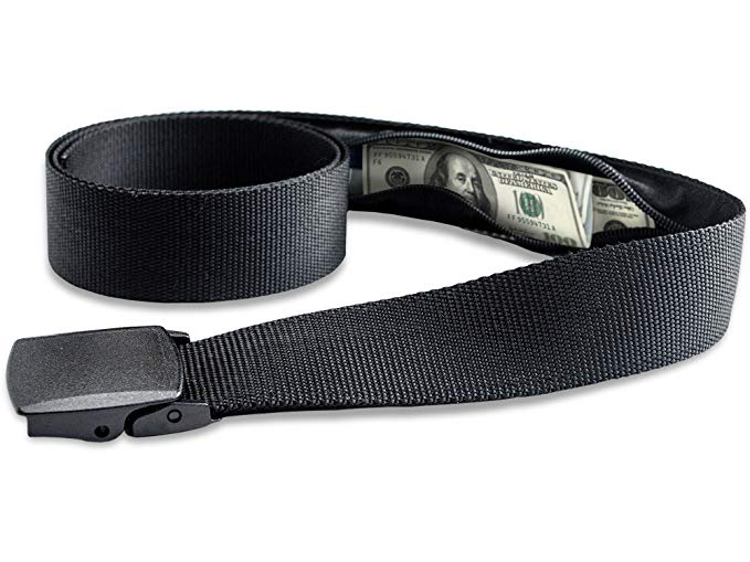 Travel Security Belt with Hidden Money Pocket
