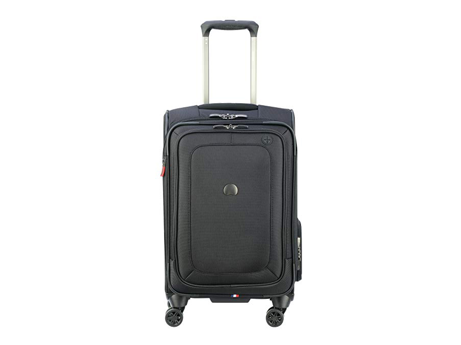 Delsey Luggage Cruise Lite Softside Carry-On Exp. Spinner Suiter Trolley, Black