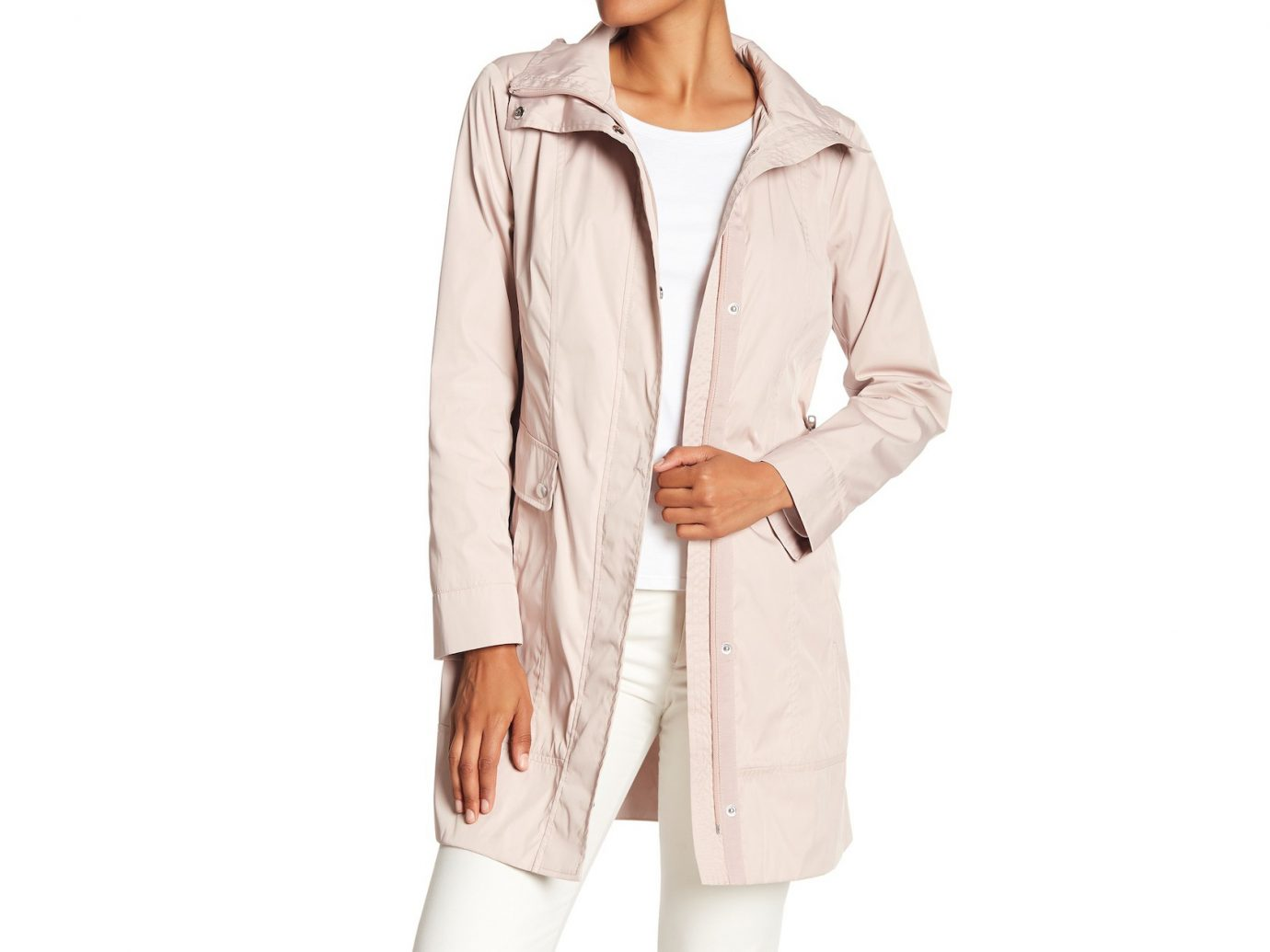 Cole Haan Double Face Packable Rain Jacket
