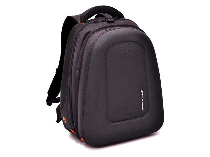 Midtown 1680D Ballistic EVA Compression Molded Expandable Laptop Backpack - Black