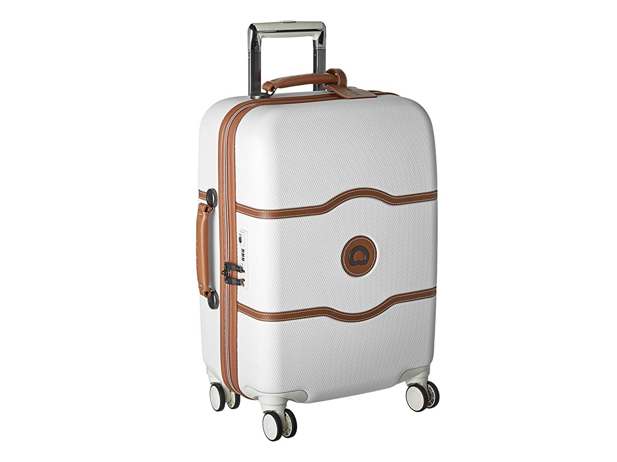 DELSEY Paris Delsey Luggage Chatelet Hard+ 21 Inch Carry On 4 Wheel Spinner Champagne