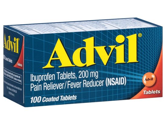 Advil (100 Count) Pain Reliever / Fever Reducer Coated Tablet