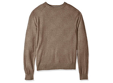Amazon Brand - Buttoned Down Men's Standard 100% Cashmere Crewneck Sweater.