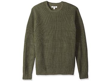 Amazon Brand - Goodthreads Men's Soft Cotton Rib Stitch Crewneck Sweater.