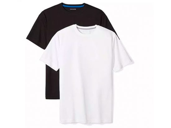 Amazon Essentials Men's 2-Pack Performance Short-Sleeve T-Shirts