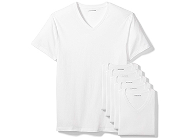 Amazon Essentials Men's 6-Pack V-Neck Undershirts.