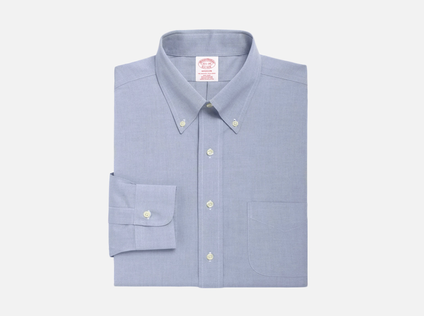 Brooks Brothers Madison Classic-Fit Dress Shirt, Non-Iron Button-Down Collar.