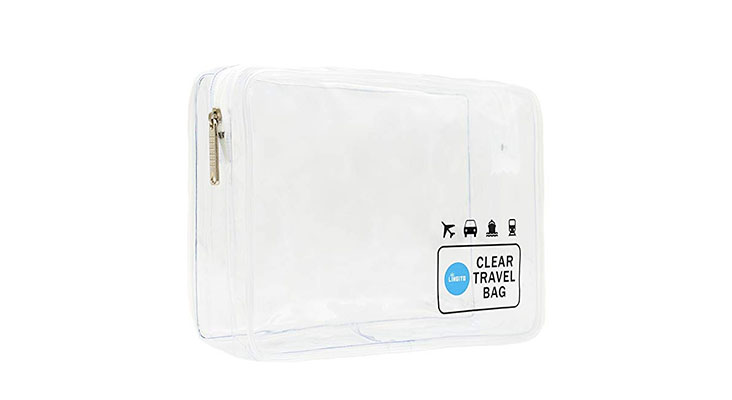 Clear TSA-approved bag from Amazon