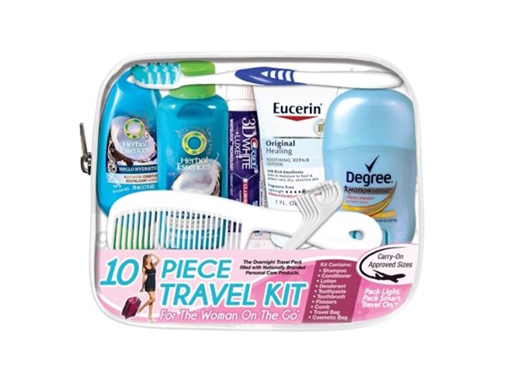 Convenience Kits International, Women's Deluxe 10 PC Travel Kit.