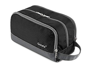 Black toiletry bag for men