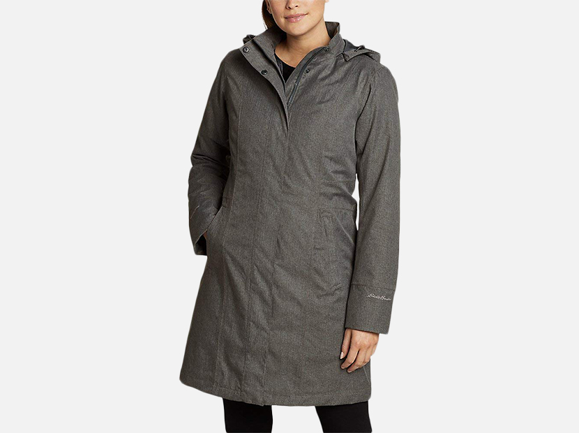 Eddie Bauer Women's Girl On The Go Insulated Trench Coat.