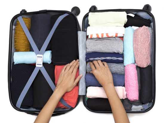 rolling clothes for packing