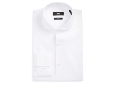 Jason Slim Fit Solid Stretch Dress Shirt BOSS.