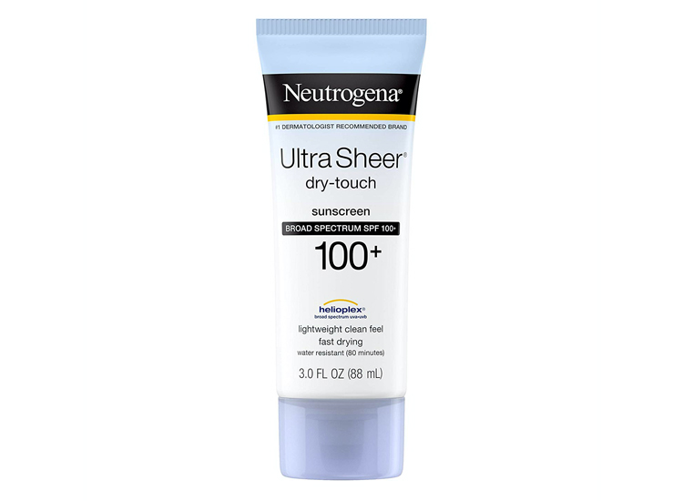 Neutrogena Ultra Sheer Dry-Touch Water Resistant.