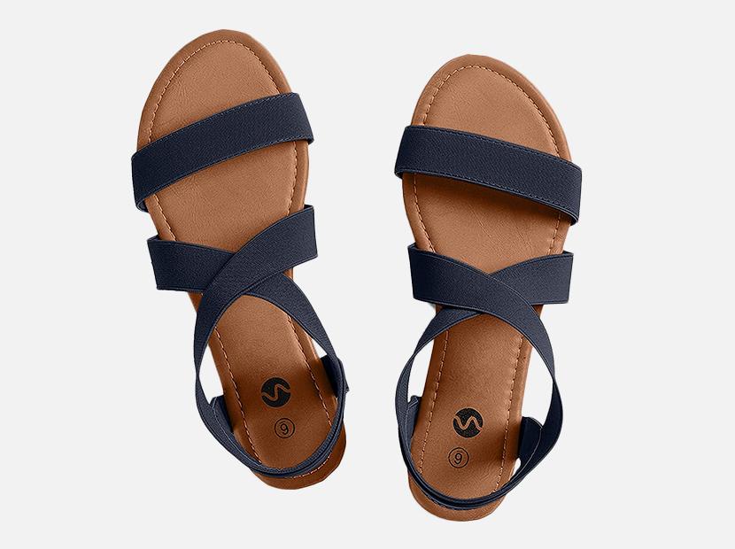 Rekayla Flat Elastic Sandals for Women.