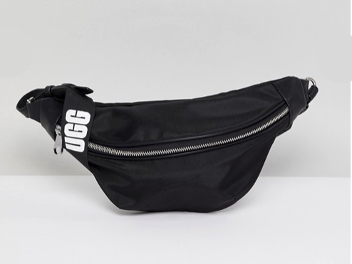 UGG Excluisve Logo Fanny Pack in Black