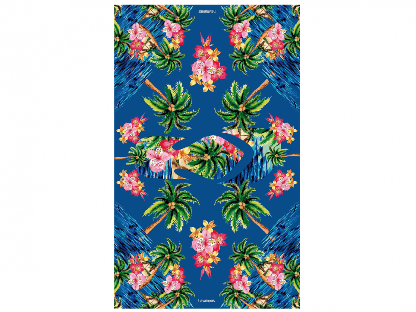 CANGA FLORAL BLUE multifunctional sarong
