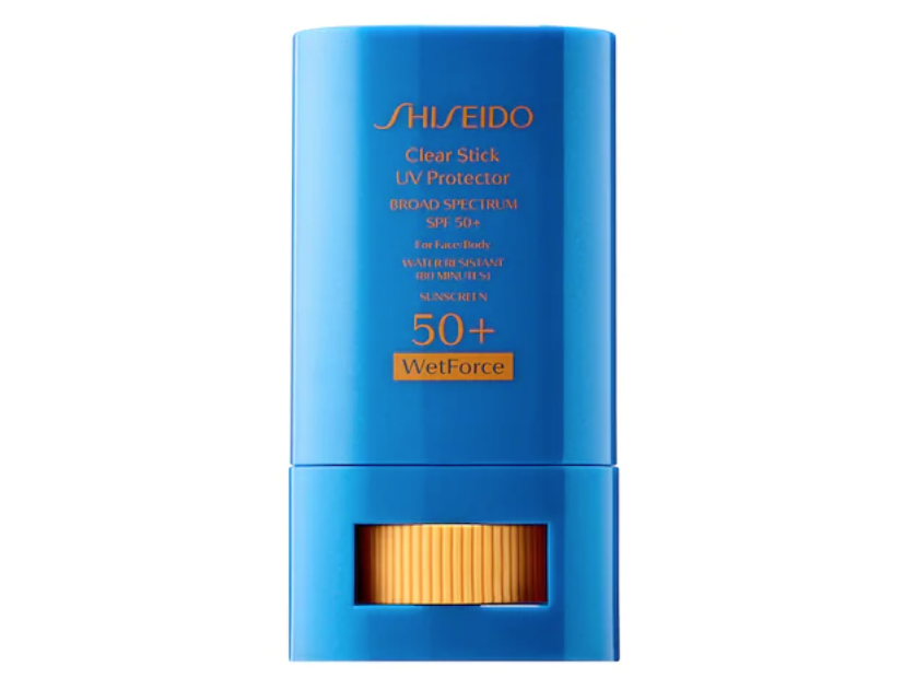 SHISEIDO Clear Stick UV Protector WetForce Broad Spectrum Sunscreen SPF 50+