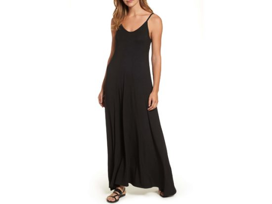 Women's Black Maxi Dress LOVEAPPELLA