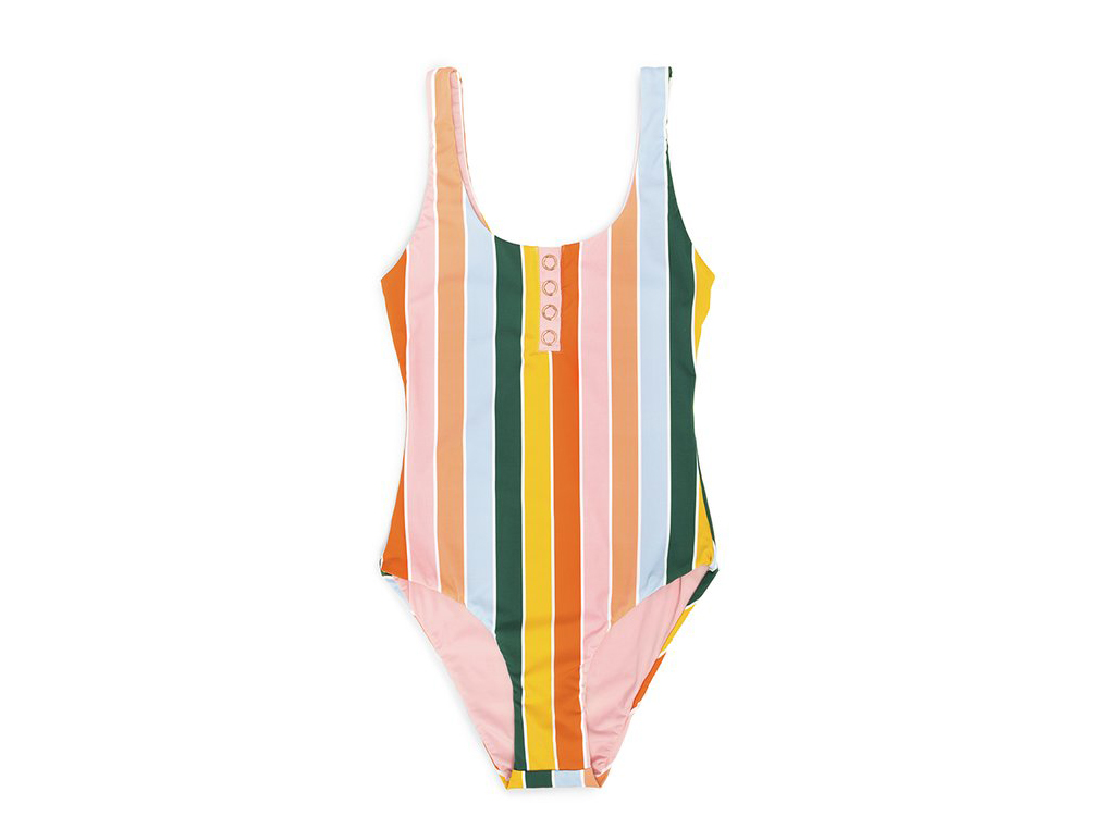 Bright swimsuit for all-inclusive vacation