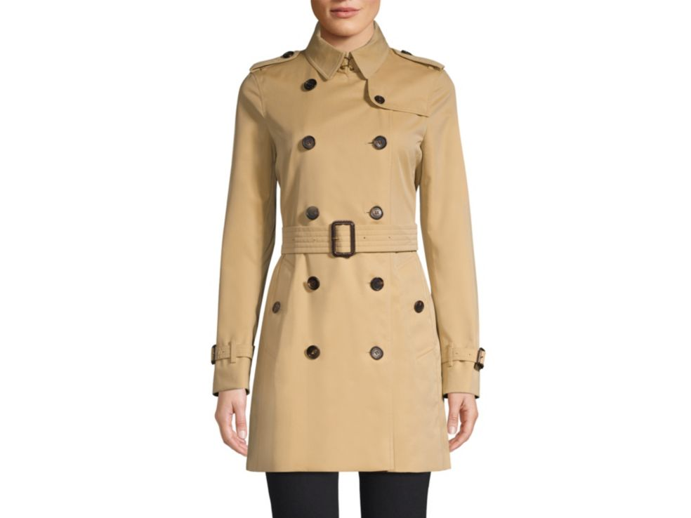 Burberry Kensington Mid-Length Heritage Cotton Trench Coat