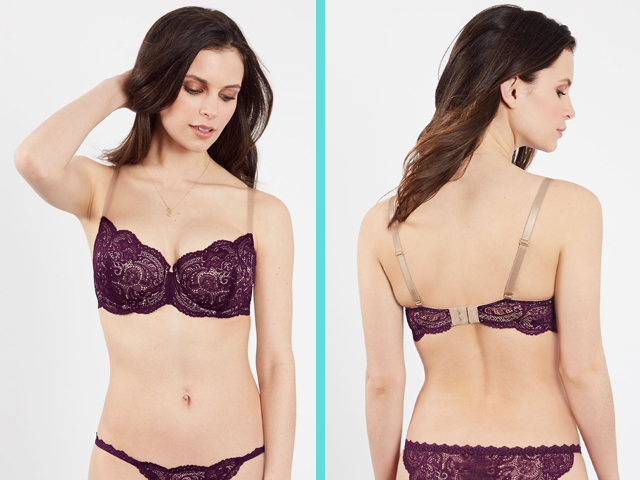 24/7 Lace Balconette Bra Third Love Plum