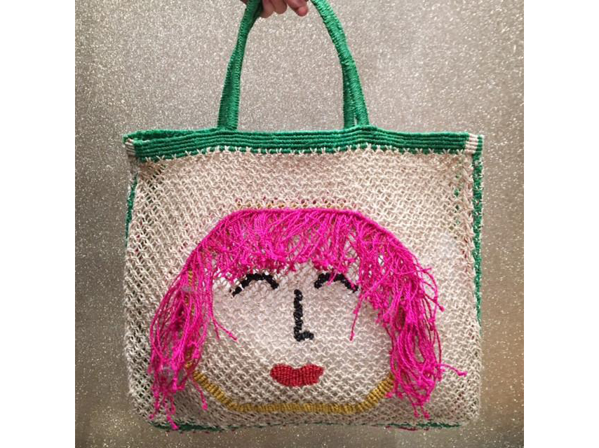 The Jacksons Betty Green Jute Bag