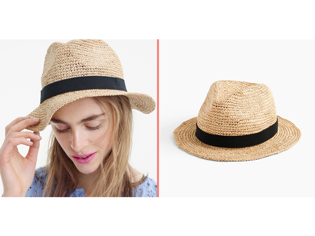 Packable Straw Hat J. Crew
