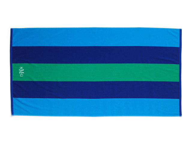 Lands End Rugby Stripe Beach Towel